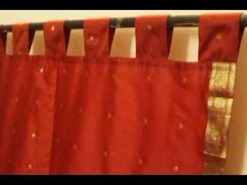 Tab Top Sari Curtains / Srapes / Panels   YouTube