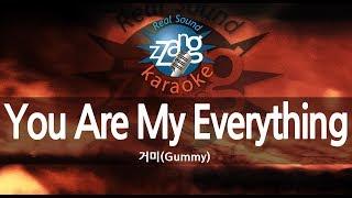 [짱가라오케/원키/노래방] 거미(Gummy)-You Are My Everything KPOP Karaoke [ZZang KARAOKE]