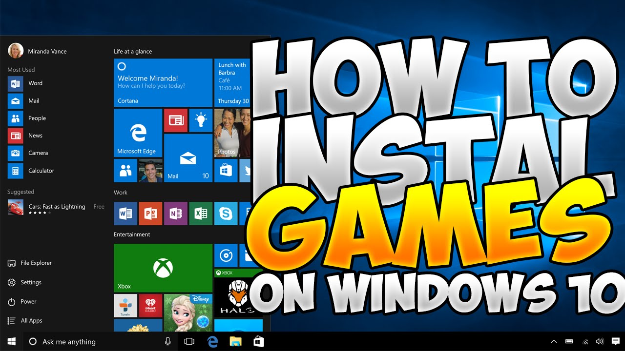 How to install GAMES on Windows 12- July 12 - YouTube