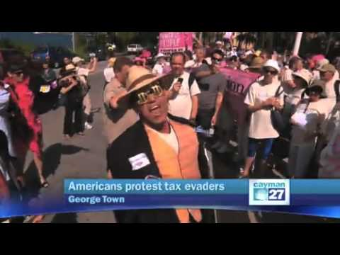 Exposing the Cayman Island Tax Scandal - CODEPINK & The Nation take on Corporate Fat Cats