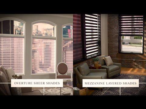 Graber Blinds Overture Sheer Shades Amp Mezzanine Layered