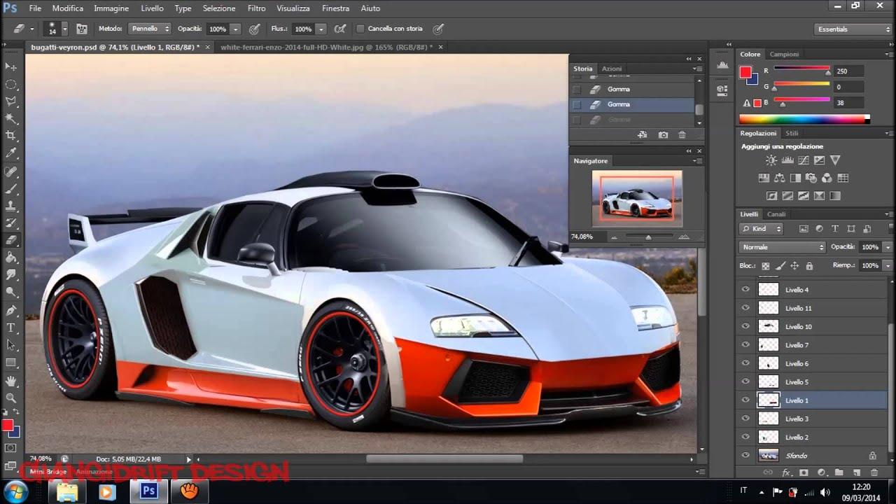Bugatti Veyron Virtual Tuning Photoshop Youtube