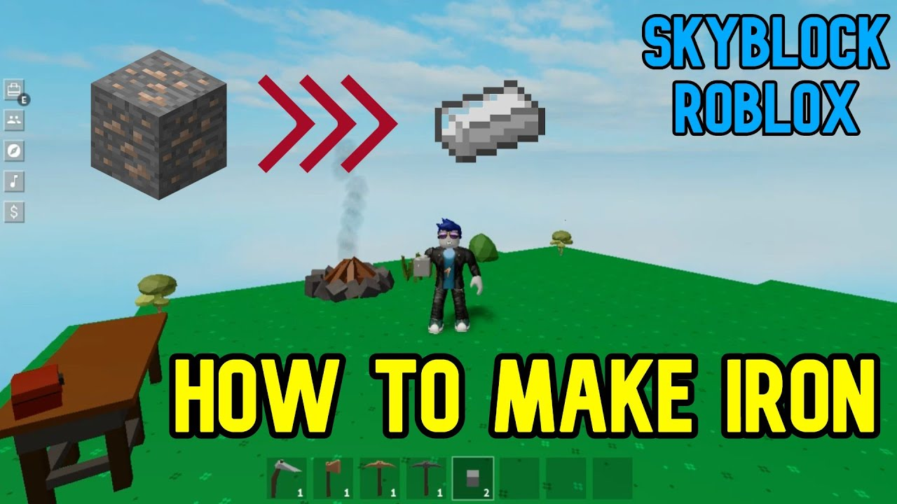 How To Get Make Iron In Skyblock Roblox Youtube