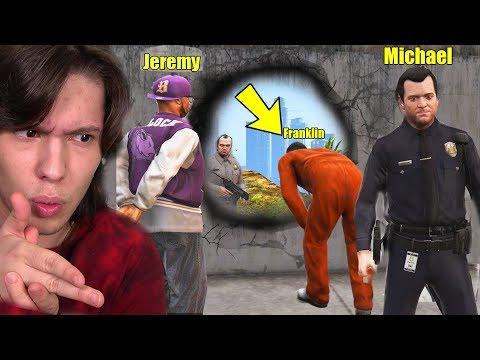 INVADIMOS A PRISÃO PARA RESGATAR O JEREMY No GTA 5!!  GANG MOD