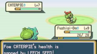 Pokemon Leaf Green - LeafGreen Ep 3 : Metapod hardens! Viridian Forest Fighting! - User video