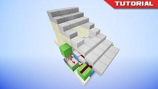 The Hidden Piston Stairs [redstone Tutorial]