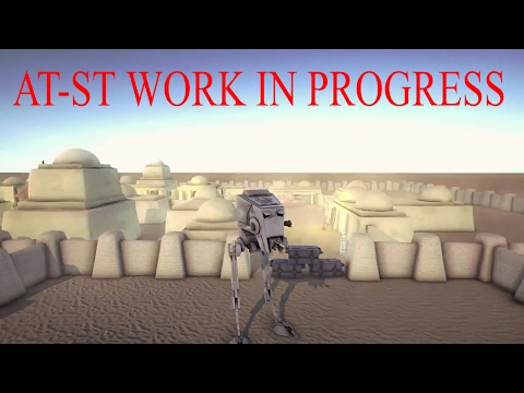 Star Wars: Rogue District (Fan Game) AT-ST Walker Game Play