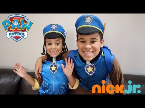 Halloween Police Dad Recruits PAW Patrol Police Pups