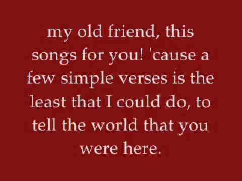 My Old Friend - Tim McGraw - Lyrics