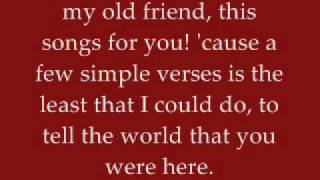 My Old Friend - Tim McGraw - Lyrics