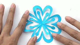 How To Make paper Snowflakes Step By Step Tutorial