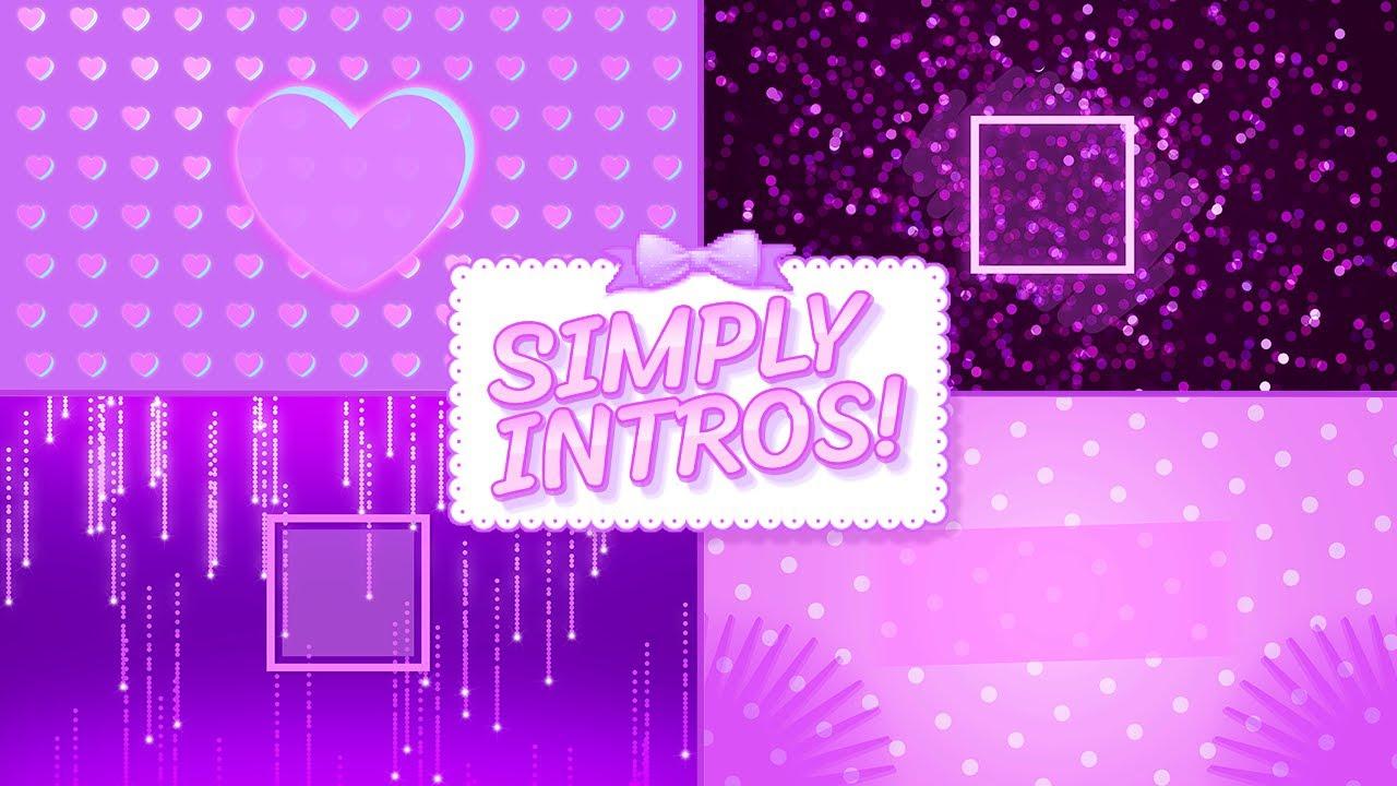 Purple makeup guru intro templates by SIMPLY INTROS!