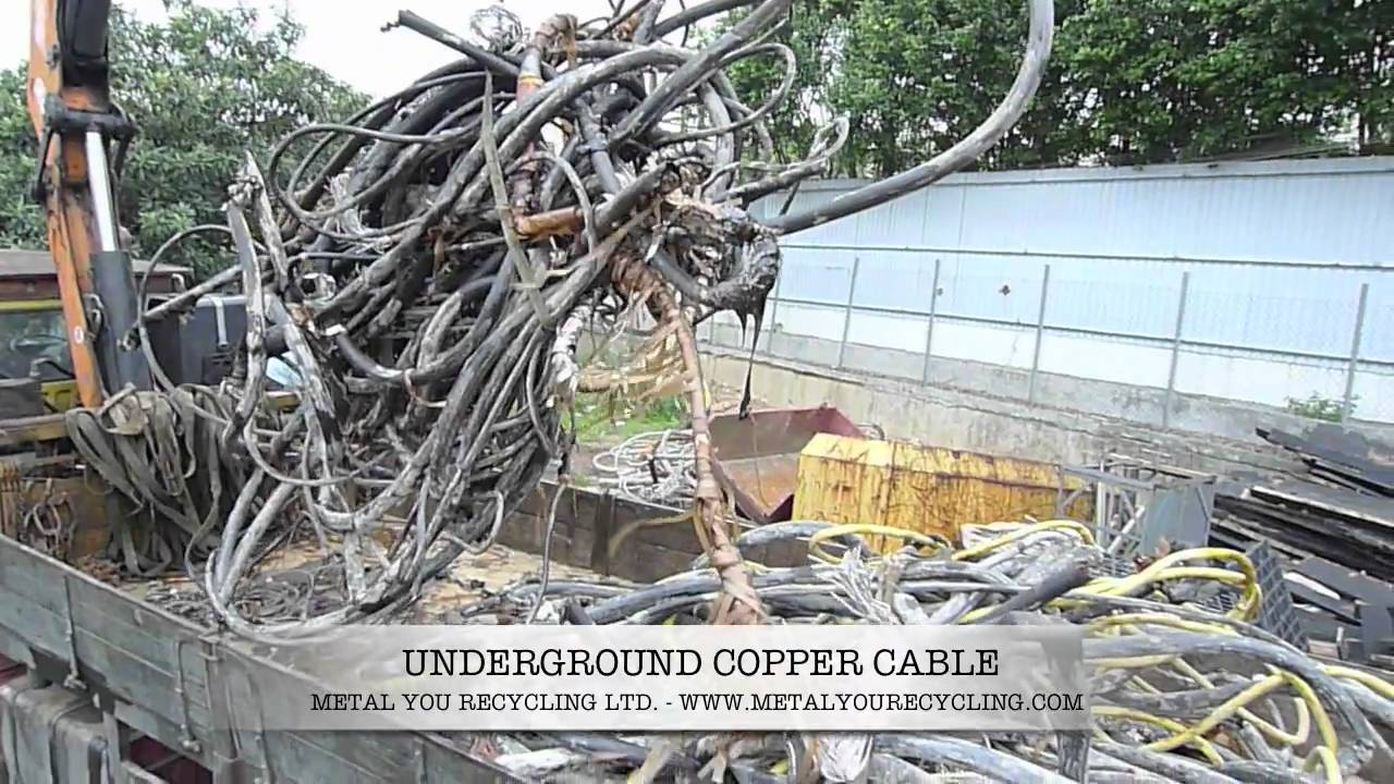 Underground copper cable for recycling. - YouTube