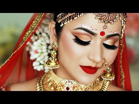 INDIAN (BENGALI) BRIDAL MAKEUP AND BINDI DESIGN | SMITHA DEEPAK thumbnail