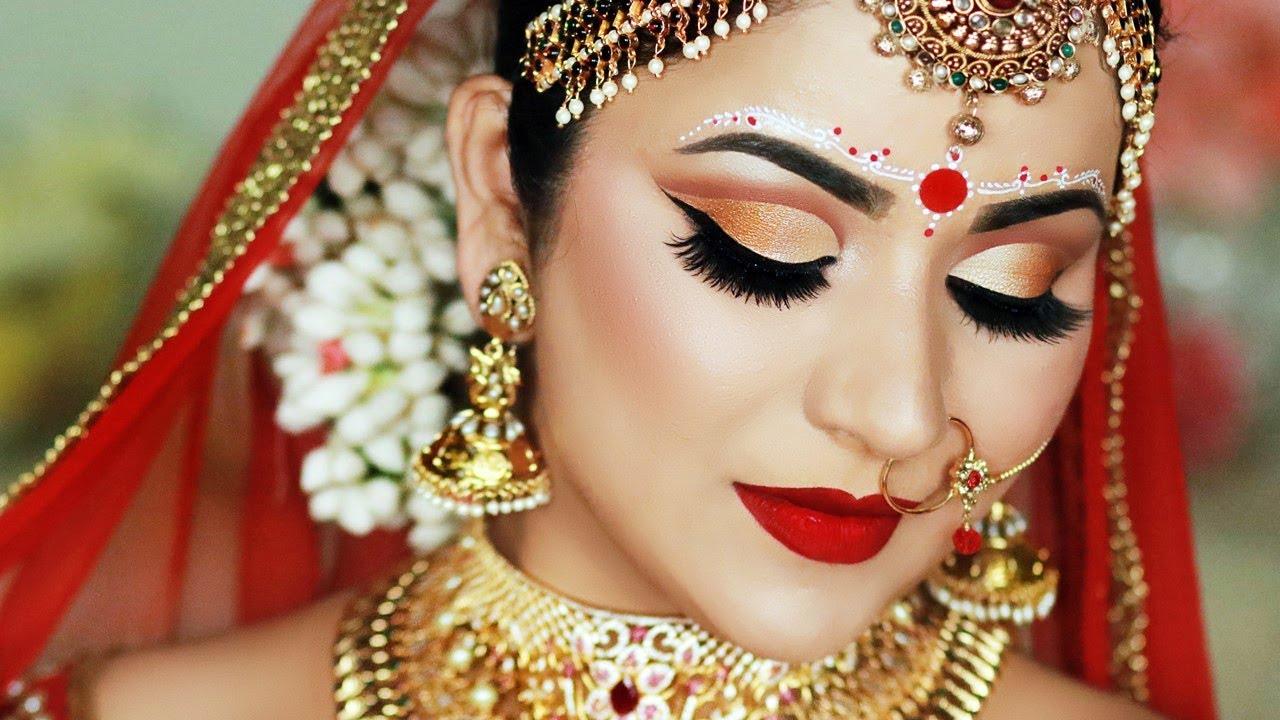 INDIAN (BENGALI) BRIDAL MAKEUP AND