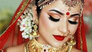 INDIAN (BENGALI) BRIDAL MAKEUP AND BINDI DESIGN | SMITHA DEEPAK