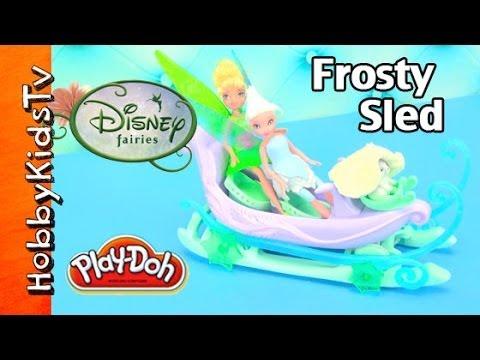 Periwinkle Snow Sled! Tinker Bell PLAY-DOH, Batman, Disney Fairies, Box Open, Toy Review HobbyKidsTV