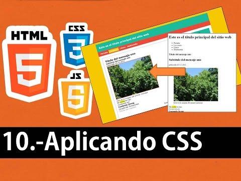 Curso de HTML5 esencial - Aplicando css a las etiquetas html5 (cambio de apariencia)