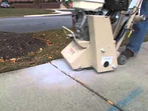 Edco cpm8 concrete sidewalk trip hazards repair youtube for Removing concrete walkway