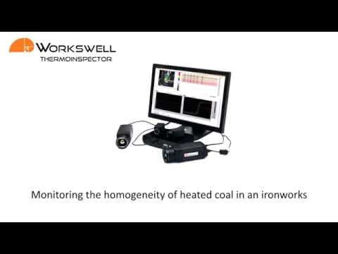 Monitoring the homogenity of heated coal in an ironworks