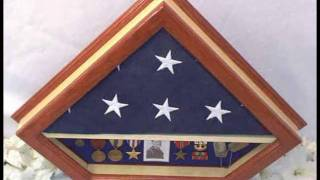 Memorial Burial Shadow Box Custom Flag Display Case By Diamond Flag Cases