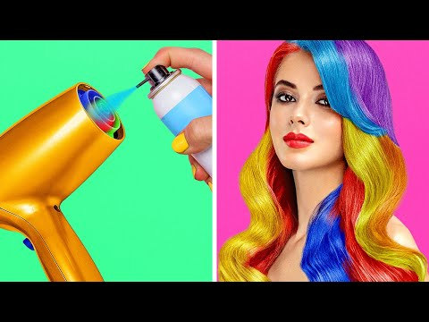 COOL GIRLY BEAUTY HACKS || Clever Makeup And Hair Ideas