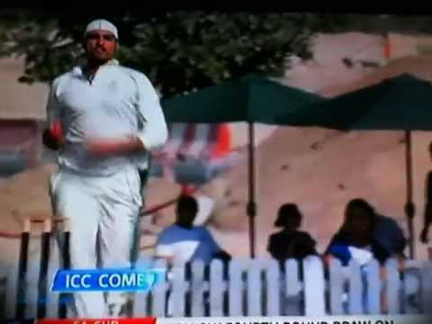 Afghanistan fast bowler Hamid Hassan vs England 2012