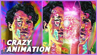 How I Created This Psychedelic Animation?😻 (My Art Process)