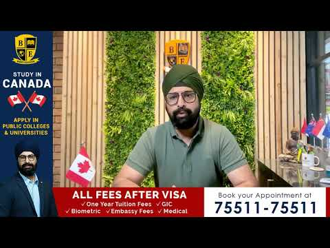 Study in Canada & pay All Fees After Visa Approval (GIC, Fees, Embassy paid by us)