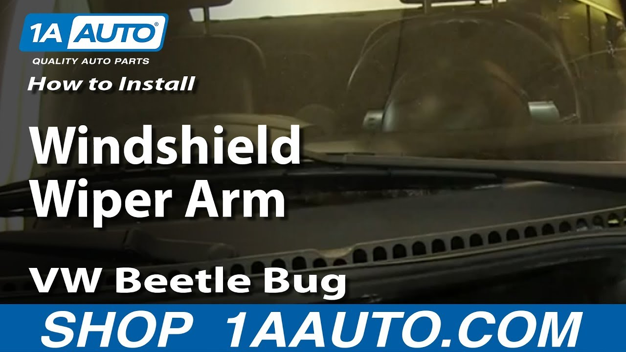 How To Replace Windshield Wiper Arm 9810 VW Beetle  YouTube