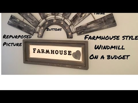 DIY Dollar Tree Farmhouse Style Windmill Spring Decor