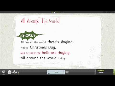 All Around The World Assembly Song from A Cracking Christmas! Songbook with Words on Screen™