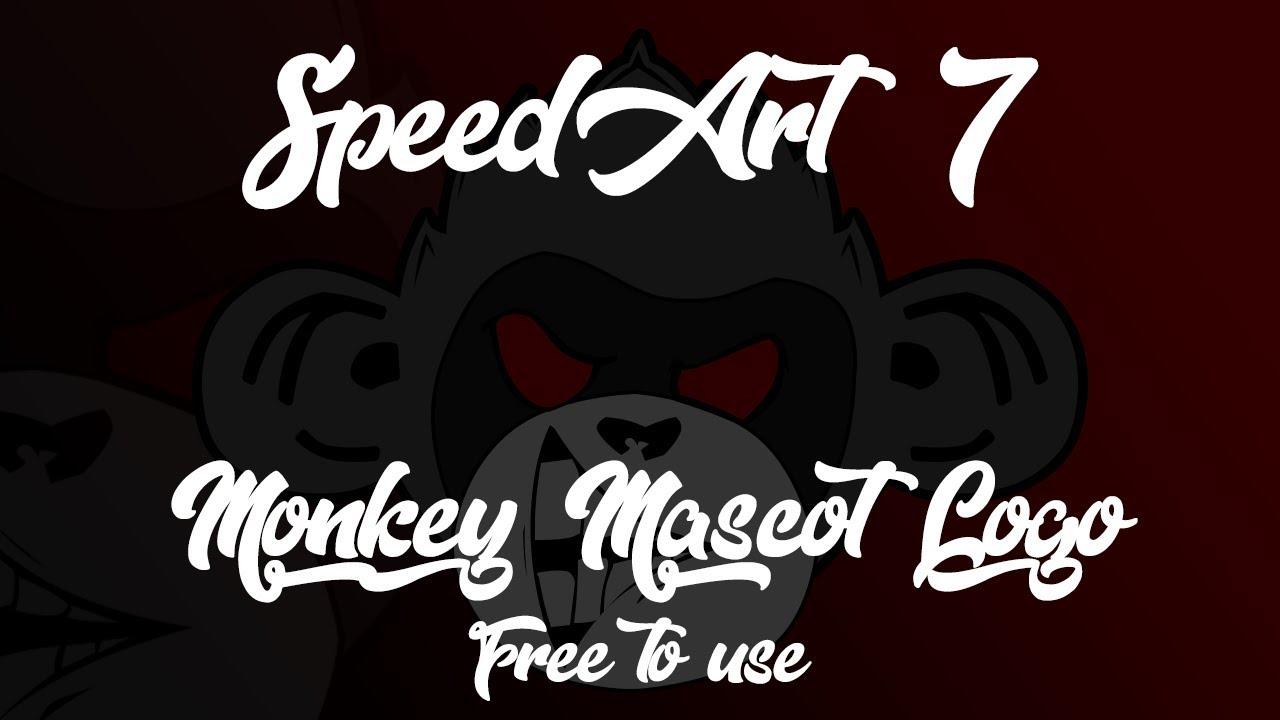 Speedart Monkey Mascot Logofreetouse