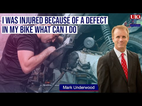 I was injured because of a defect in my bike what can I do?