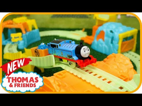 New! THOMAS AND FRIENDS TRACKMASTER GLOWING MINE with  Glow in the Dark Thomas & Friends Toy Trains
