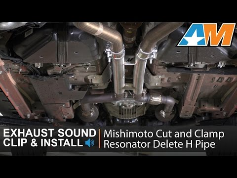 2015-2017 Mustang (GT) Mishimoto Cut And Clamp Resonator Delete H-Pipe Sound Clip & Install