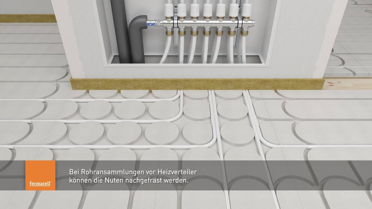 Fermacell Therm25 Fussbodenheizelement Montagevideo Youtube