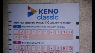 Keno is played by selecting 10 from 80 numbers, with 20 winning numbers. This video shows how to work out the odds of winning Keno when 10 numbers are ...