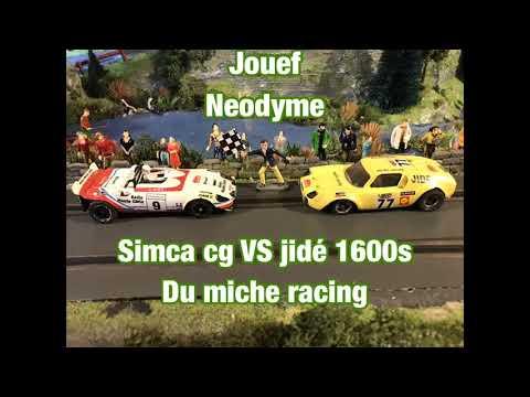 Duel jouef dû miche racing sur le rallye du Var (Slot,scalextric,carrera)