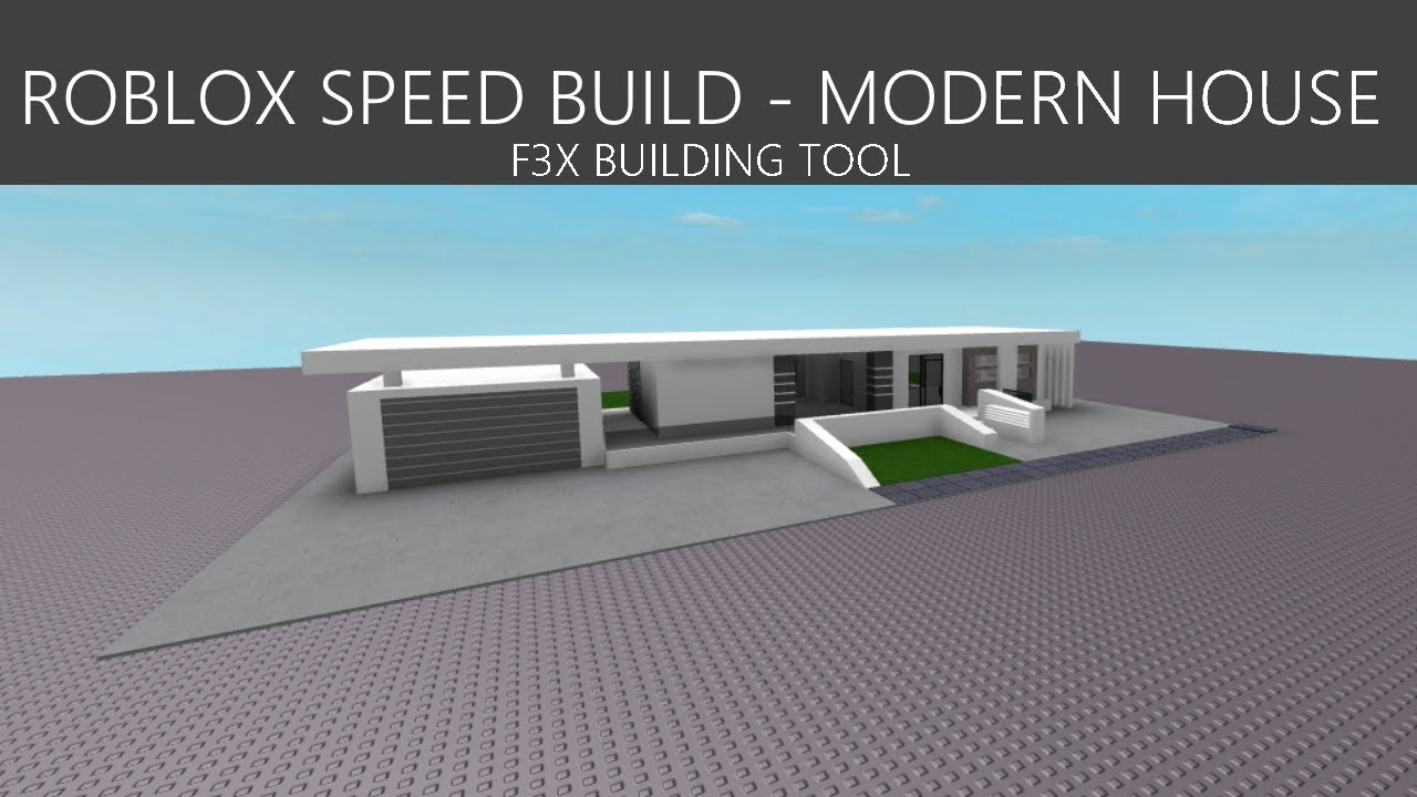 Roblox Fx Speed Build Modern House