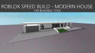 ROBLOX F3X SPEED BUILD | MODERN HOUSE