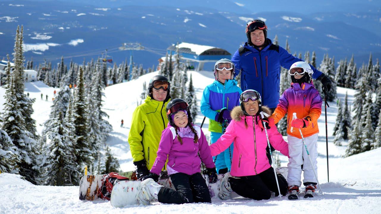 big white spring break family ski vacation - youtube