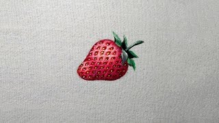 Como pintar um Morango Vermelho