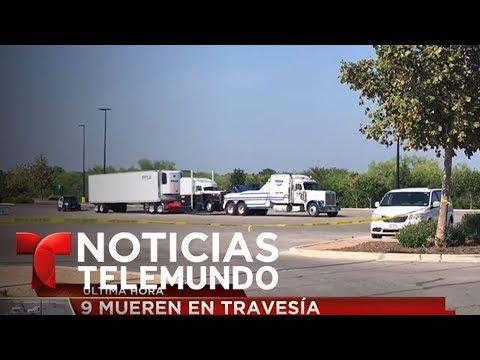 Suben a 9 los inmigrantes fallecidos entre un trailer en San Antonio, Texas   Noticiero   Telemundo