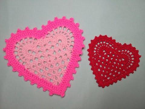 Вязание прихватка сердечко крючком