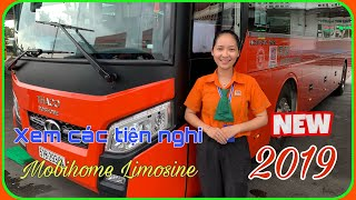 See attractive amenities on Phuong Trang Limousine 2019 VIP room car