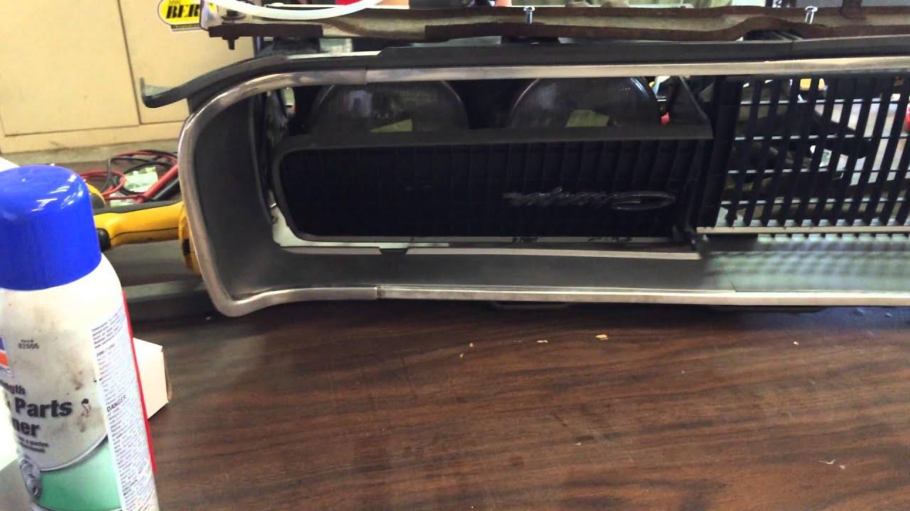 1969 dodge charger electric headlight door & 1969 dodge charger electric headlight door - YouTube