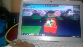 Playing in roblox pizzeria