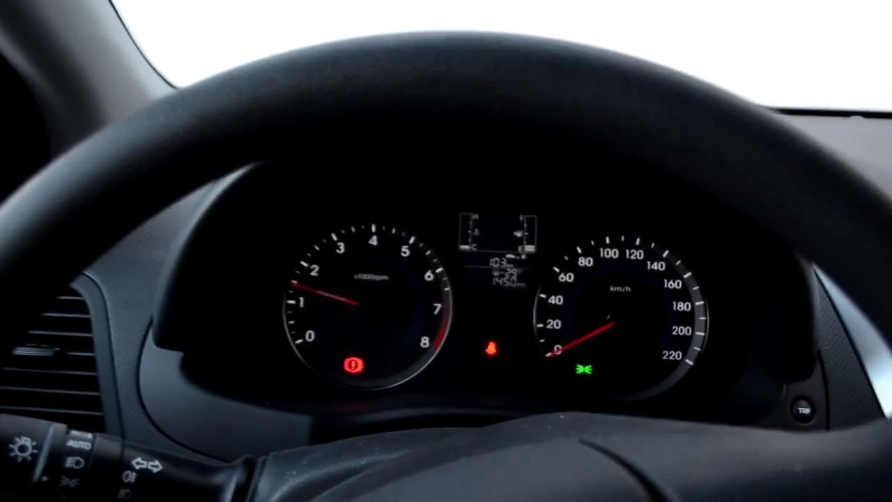 Запуск Hyundai Solaris в мороз -30* после суток простоя