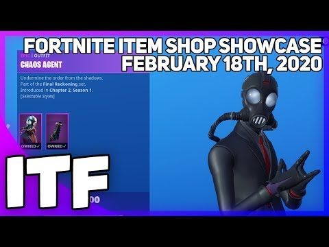 Fortnite Item Shop CHAOS AGENT IS BACK! [February 18th, 2020] (Fortnite Battle Royale)